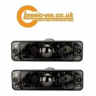 Front Bumper Indicator With Crystal Smoked Lens  Mk1 Golf, Mk2 Golf, Polo, Jetta, Caddy